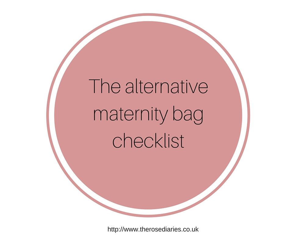 The alternative maternity bag checklist